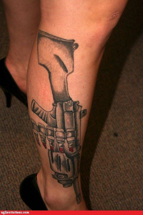 guns tattoos funny