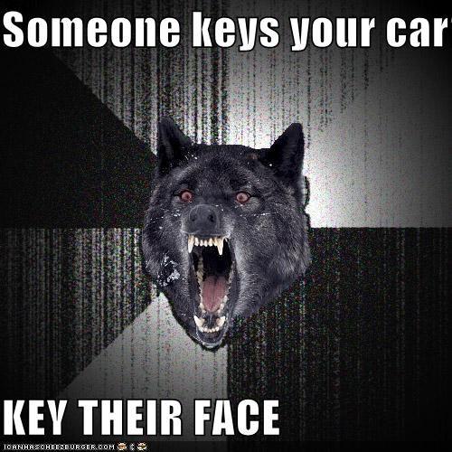 car face Insanity Wolf key - 4399793920