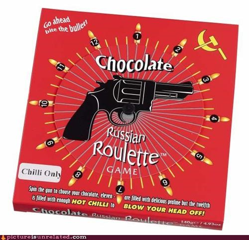 chocolate,delicious,russian roulette,suicide,wtf