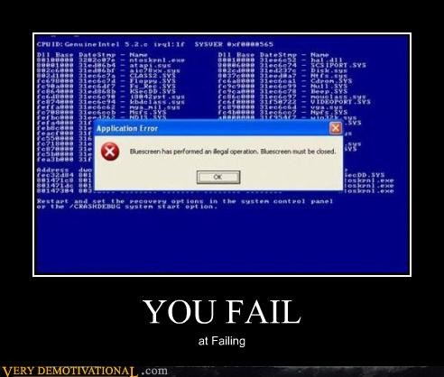 blue screen,closed,FAIL,windows