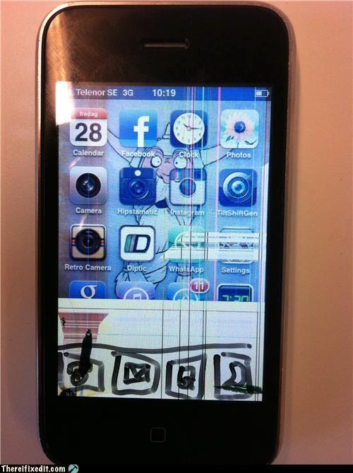 Apple product broken cell phone iphone sharpie - 4400722688