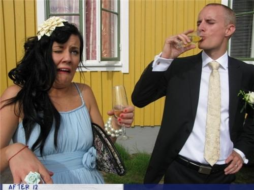 champagne,funny face,gross,wedding