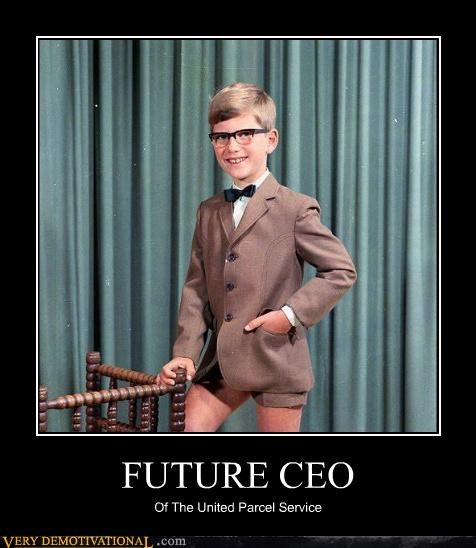 ceo nerd shorts united parcel service young