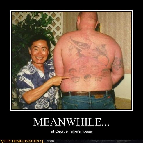 george takei,Star Trek,tattoo