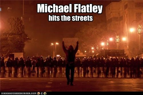 Michael Flatley hits the streets