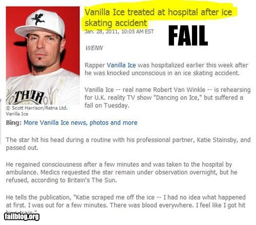 celeb failboat irony Probably bad News Vanilla Ice