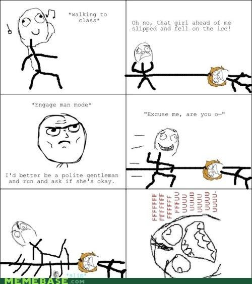engage man mode fuuuu ice rage Rage Comics slip trying to help - 4401956864