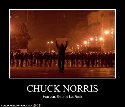 CHUCK NORRIS Has Just Entered Let Rock