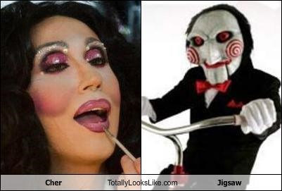 cher facepaint horror movies jigsaw makeup movie characters movies saw