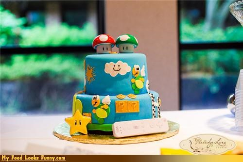 cake koopas mario Mushrooms NES nintendo super mario Super Mario bros Sweet Treats wii - 4402725632