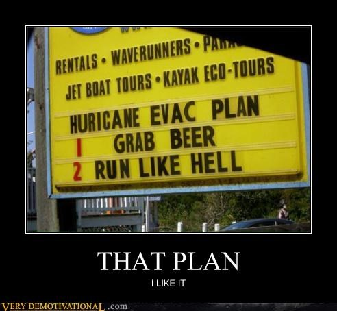 hurricane,plan,beer,run