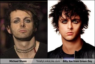 actor billy joe green day guyliner michael sheen musician