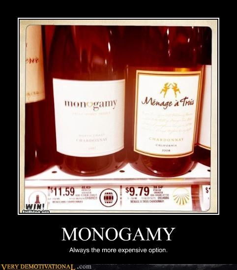 MONOGAMY Always the more expensive option.