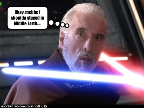 actor celeb Christopher Lee Movie sci fi star wars - 4404356352