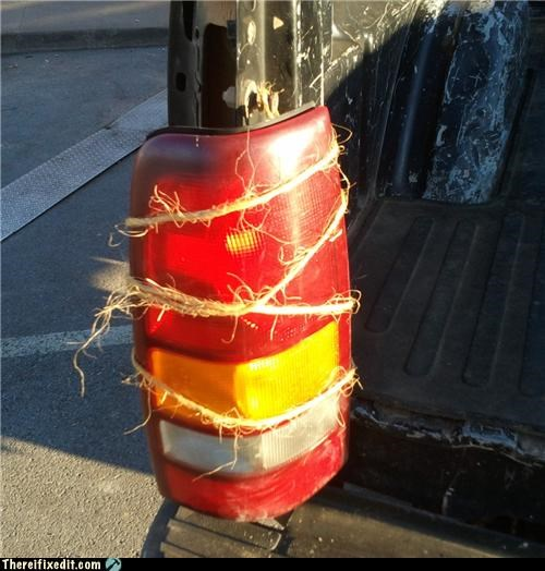 bad puns cars holding it up rope taillights twine - 4404389120