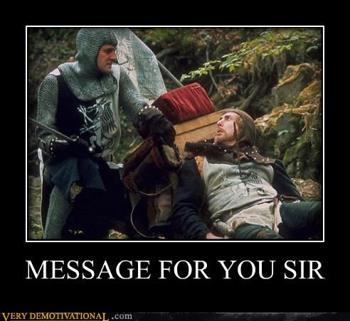 arrow monty python message holy grail - 4404460544
