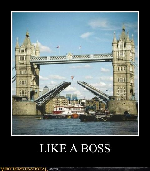 Like a Boss jump London motorcycle bridge boats