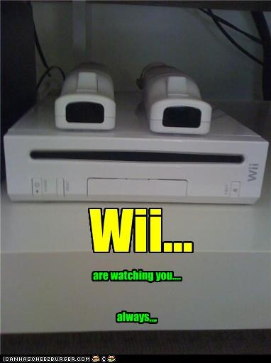 always,big brother,console,creepy,happy chair is happy,nintendo,spying,video game,video games,watching,wii