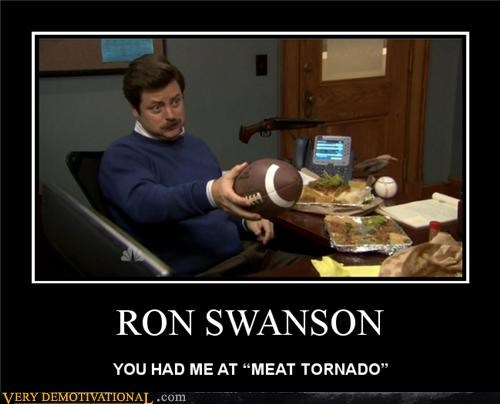 tornado,ron swanson,parks and rec,meat
