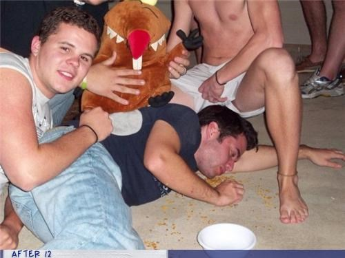 drunk eww passed out vomit wtf - 4405579520