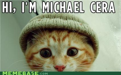 hipster,kitten,Memes,michael cera