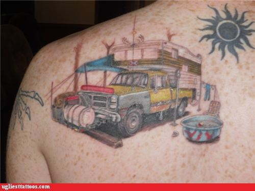 tattoos,funny,tribal sun,trucks