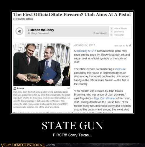 STATE GUN FIRST!!! Sorry Texas...