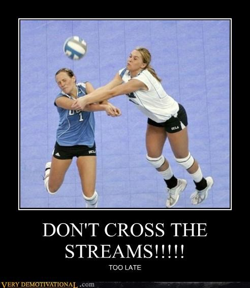 collision cross the streams volley ball