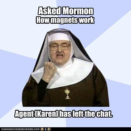 chat magnets mormon Success Nun trolling - 4406721280