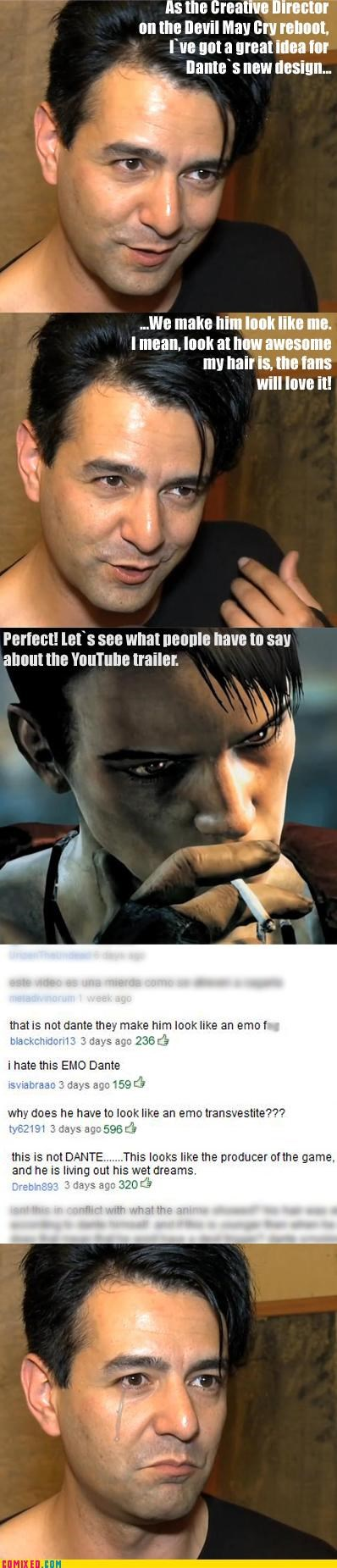 crying dante devil may cry emo tears fuel my laughter video games Videogames - 4406728448