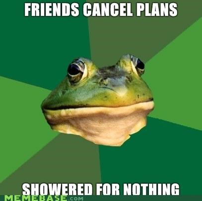 foul bachelor frog,friends,shower,waste