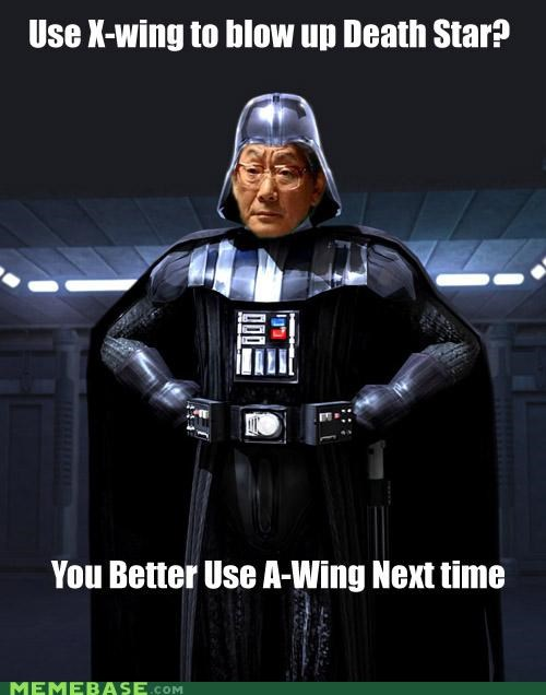 asian vader,a-wing,darth vader,high expectations asian dad,star wars,x wing