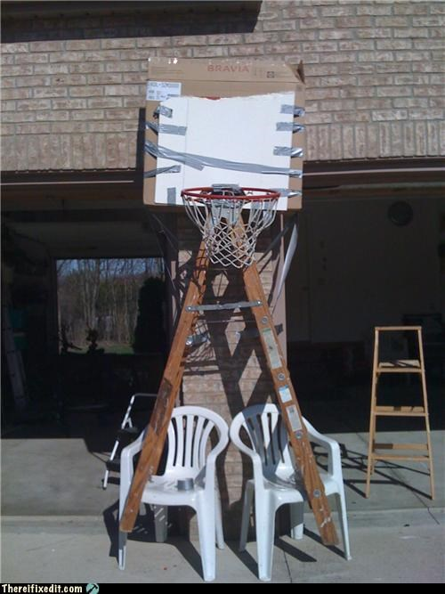 basketball,cardboard,duct tape,sports