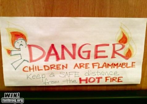 fire flammable kids signs warning - 4407513088