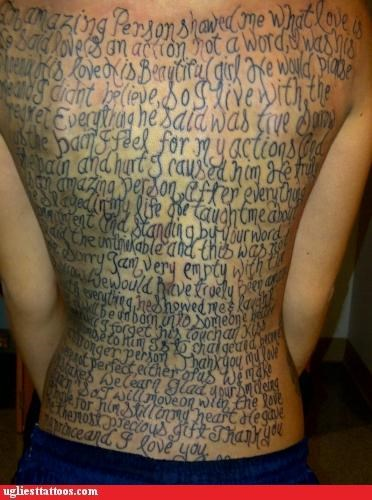 wtf text tattoos funny g rated Ugliest Tattoos