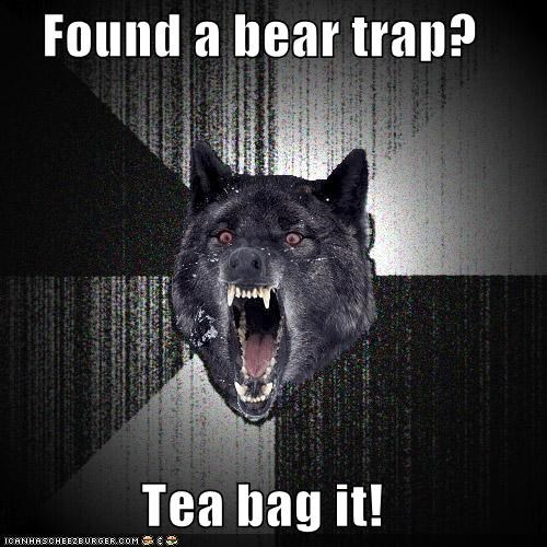 bear trap,Insanity Wolf,tea bag