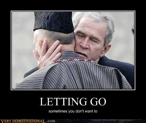 George Bush,eww,letting go,hug