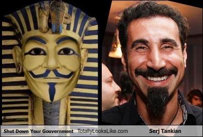 egypt Hosni Mubarak mummy serj tankian v for vendetta - 4408476416