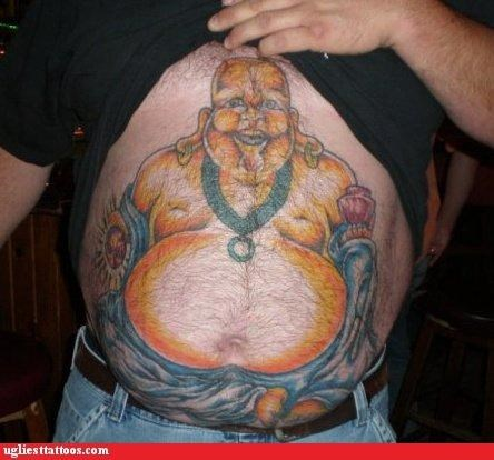 buddha stomachs tattoos belly funny - 4408510720