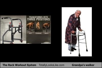 elderly exercise Grandpa rack the rack workout system walker - 4408620032