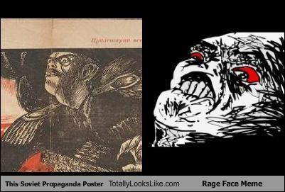 Memes,poster,propaganda,rage face,raisins,soviet,super fuuu