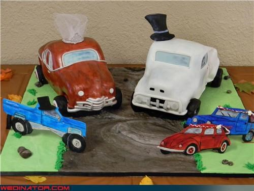 bride,cars wedding cake,crazy wedding cake,Dreamcake,ford pickup,funny wedding photos,groom,road to love,technical difficulties,themed wedding cake,unique wedding cake,were-in-love,Wedding Themes,wtf