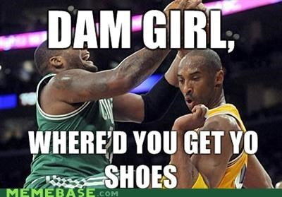kobe bryant Lakers Memes shoes - 4409856512