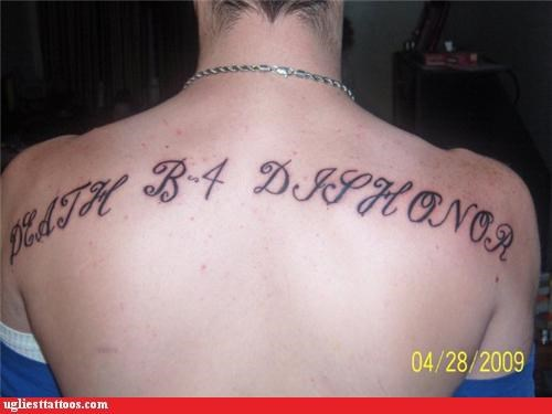 tattoos bad text funny - 4410050560