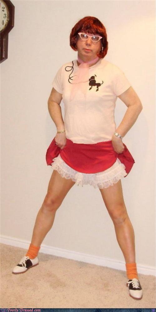 50s cross dresser poodle skirt sock hop - 4410501632