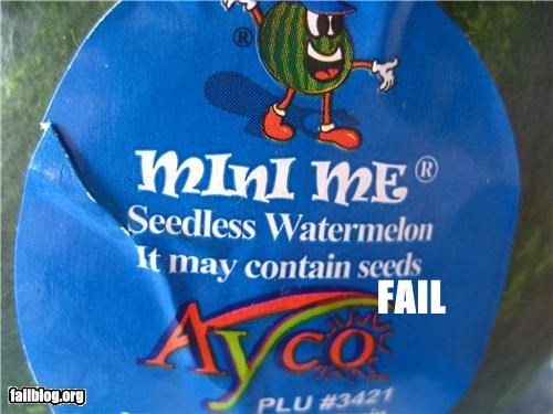 As Advertised failboat fruit seedless seeds sticker watermelon - 4410526208
