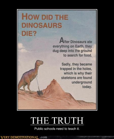 truth public school dinosaurs - 4411184640