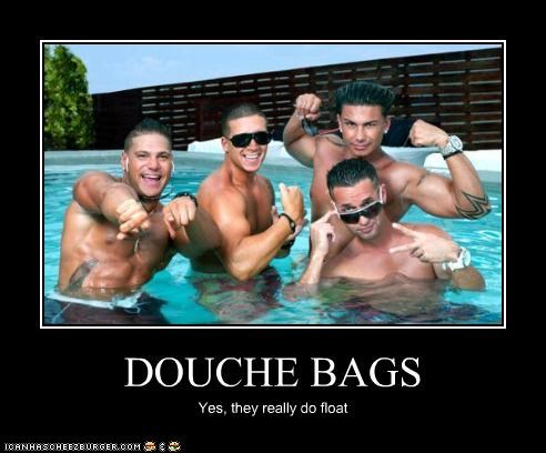 DOUCHE BAGS Yes, they really do float
