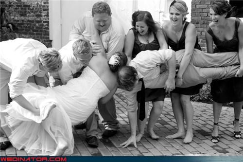 awkward wedding photo awkward wedding photo FAIL black and white bride Crazy Brides crazy groom fashion is my passion funny wedding party picture funny wedding photos groom miscellaneous-oops technical difficulties wedding party wedding photo accident whoops