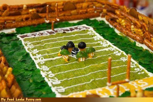 field football guacamole pretzels - 4411590912